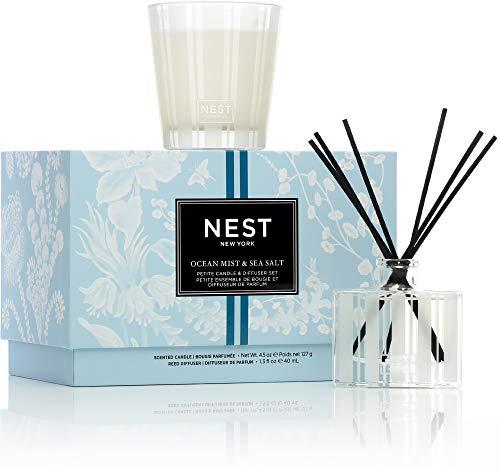 NEST Fragrances Ocean Mist & Sea Salt Petite Candle & Reed Diffuser Set