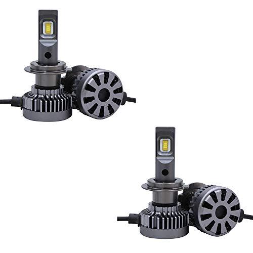 Kit de phares de voiture à DEL, 12 ampoules halogènes et halogènes automobiles, 24V 12000ML H4, aluminium, gris argenté, 4 pièces,H7