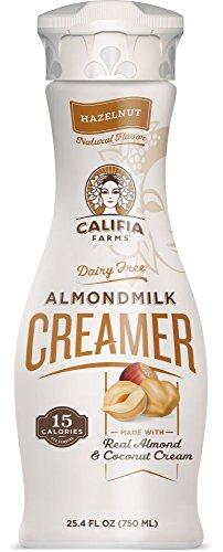 Califia Farms Hazelnut Almondmilk Coffee Creamer with Coconut Cream, 25.4 Oz (Pack of 2)   Dairy Free   Plant Based   Nut Milk   Vegan   Non-GMO