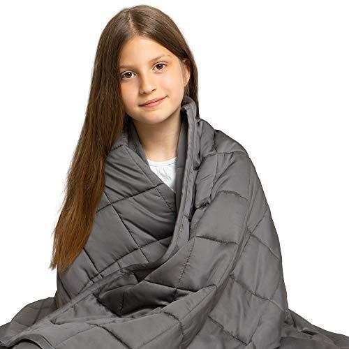 Dreamzie - Gewichtsdecke - 100 x 150 cm - 2 kg - Für Betten 90/100 - Außenstoff 100% Bambus - Oeko-TEX®