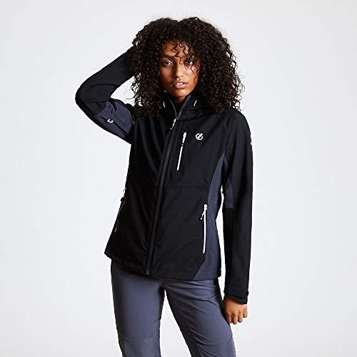 Dare 2b Veste Imperméable VERITAS II Jackets Waterproof Shell Femme Black/Ebony Grey FR : L (Taille Fabricant : 14)