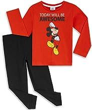 Disney Pijama Niño, Pijamas Niños Personaje Mickey Mouse, Conjunto Pijama Niño Invierno de Manga Larga, Regalos para Niños y Niñas 12 Meses-6 Años (Rojo, 3-4 años)
