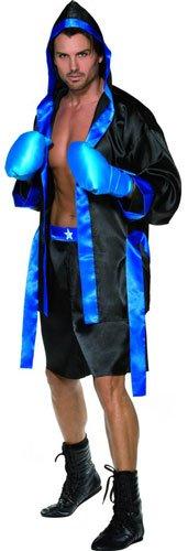 SMIFFYS Costume sexy da pugile abito, pantaloncini, cinta e guanti