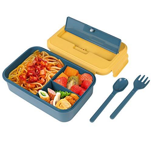 Vicloon Bento Box, Lunchbox Kinder mit 3 Fächern und Besteck, BPA Frei, Auslaufsichere Brotdose, Vesperdose Mikrowelle Heizung, Kein Fremdgeruch Brotzeitbox für Schule, Arbeit, Picknick, Reisen