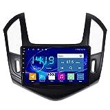 KLL 2 DIN Autoradio Bluetooth para Chevrolet Cruze 2012-2015 Apoyo FM RDS Radio DSP Reproductor MP5 Controles del Volante Pantalla Dividida (con Cámara de Trasera),WiFi+4g,4+64G