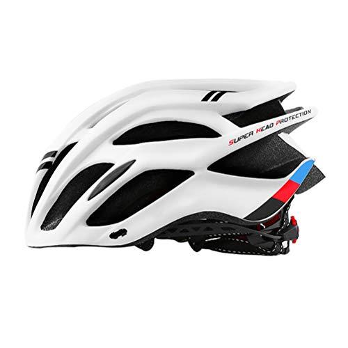 Fangteke Casco de Bicicleta de Seguridad, Casco de Ciclismo para Adultos, Cubierta de EPS + PC, Casco de Bicicleta de Carretera MTB, Casco de Ciclismo Moldeado integralmente