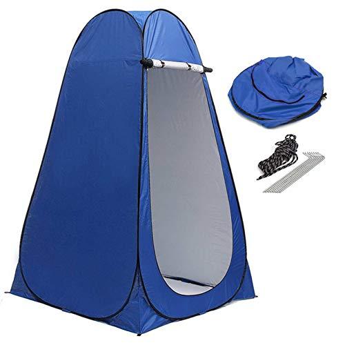 Carpa de Cambio emergente Carpa de Ducha portátil Carpa de baño de privacidad móvil baño Impermeable para Acampar jardín Playa con Bolsa Almacenamiento, 120x120x190cm,Azul