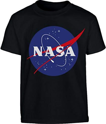 NASA Logo Space Raumfahrt Kinder Outfit Kinder und Teenager T-Shirt 140 Schwarz