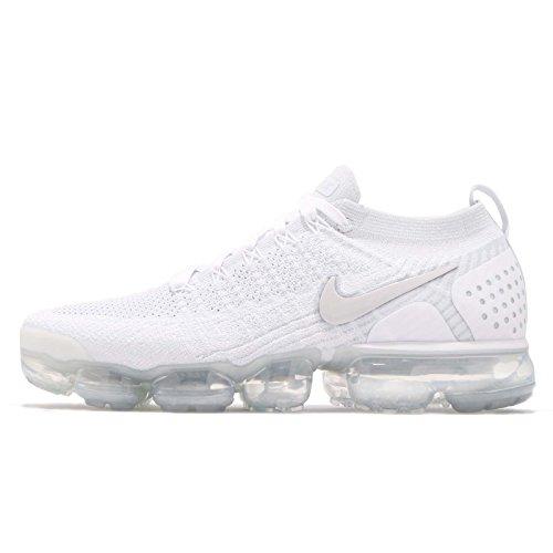 Nike Air Vapormax Flyknit 2, Scarpe da Ginnastica Basse Uomo, Multicolore (White/White/Vast Grey/Football Grey 001), 49.5 EU
