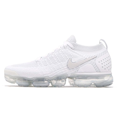 Nike Air Vapormax Flyknit 2, Zapatillas de Gimnasia para Hombre, Blanco (White/White/Vast Grey/Football Grey 105), 41 EU