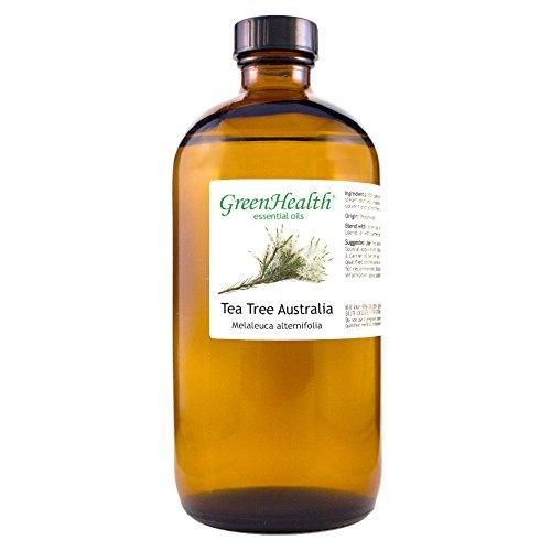 GreenHealth Australia Tea Tree Oil – 100% Pure Essential Oil 16 fl oz (473 ml) Glass Bottle