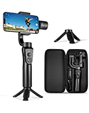 $72 » 3-Axis Gimbal Stabilizer for iPhone 12 11 Pro XS Max XR X 8 Plus 7 6 SE Android Smartphone, with Sport Mode Face Object Tracking Time-Lapse, for Youtuber/Vlogger