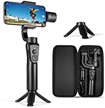 3-Axis Gimbal Stabilizer for iPhone 12 11 Pro XS Max XR X 8 Plus 7 6 SE Android Smartphone, with Sport Inception Mode Face Object Tracking Time-Lapse, for Youtuber/Vlogger