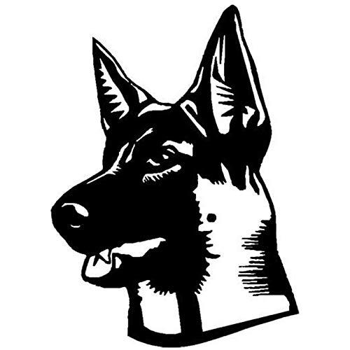 BLOUR 15.2 * 21.2CM Shepard Dog Klassische Fensteraufkleber Persönlichkeit Auto Styling Dekoration Aufkleber Schwarz/Splitter C6-1014