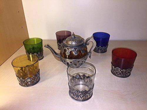 Brandani Servizio da Te' Marocco Composto da 1 THEIERA + 6 Bicchieri