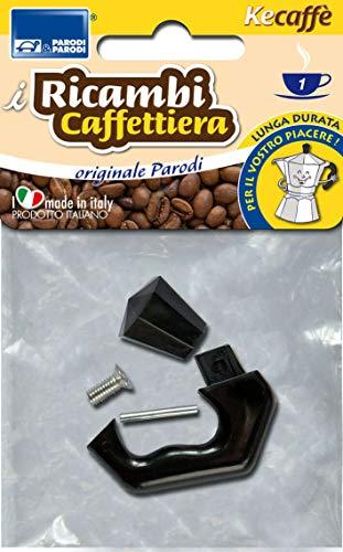 Parodi&Parodi Tazza Moka, compatibili bialetti e Altri Marchi 1 Manico di Ricambio per caffettiera, Neutro, Standard