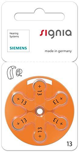 30 Stück (5 Blister) Siemens Signia Typ 13 Hörgerätebatterie Zinc Air P13 PR48 ZL2 mit 2 Stück LUXTOR® Reinigungstücher für Hörgeräte und Otoplastiken
