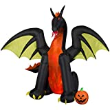 Gemmy 50202 Animated Airblown Fire & Ice Dragon, 9 foot