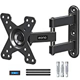 Amazon Brand - Eono Soporte TV Monitor Pared Giratorio y Inclinable para la Mayoría de 10-26 Pulgadas Televisores Monitores con VESA 50x50-100x100 mm, hasta 15kg, Soporte TV con 360° Rotación PL2463