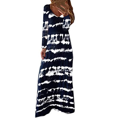 Mode Robe Été Femme Casual Manches Longues Chemise Col en V Robe Chemise Coton et Lin pour Femme