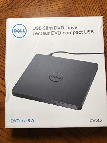 Dell USB DVD CD Tray Loading Drive Ultra Slim + -RW Portable External, Plug & Play DVD CD RW ROM Drive Writer Burner for Dell, HP, Microsoft, Lenovo, Acer Laptops Desktops Ultrabooks