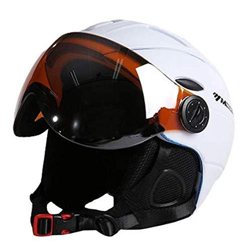 Heemtle 2-in-1 Visor Ski Snowboard Helmet Detachable Snow Mask Anti-Fog Anti-uv Integrated Goggle Shield Low Weight Adults Men/Women 6 Colors Optional (Adjustable:61-64cm)