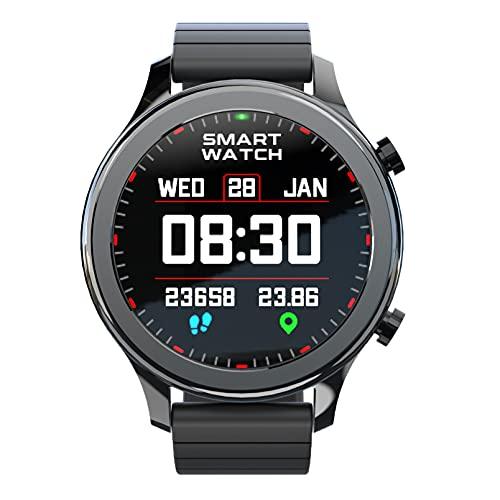 QFSLR Smartwatch Reloj Deportivo con Ciclo Menstrual Femenino Llamada Bluetooth Monitor De Frecuencia Cardíaca Monitor De Presión Arterial Control De Música Fitness Tracker,Negro,L
