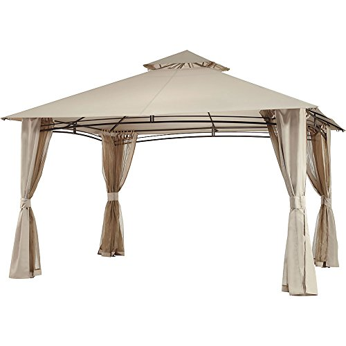 Garden Winds Replacement Canopy Top Cover and Netting Set for The Waterford Gazebo - Version 5 - RipLock 350