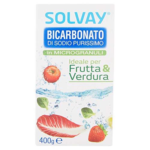 Solvay, Bicarbonato Di Sodio Purissimo - G, Bianco, Inodore, 400 Grammo