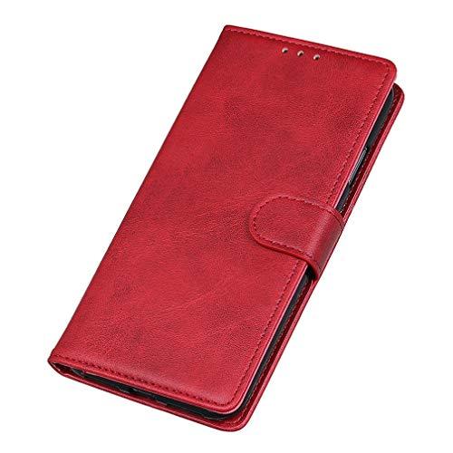 GOGME Cover per Vivo Y20s Cover, [Flip Stand/Card Slot] Flip Case Custodia in Pelle PU Premium Antiurto, Cover a Libro con Supporto/Magnetico/Portafoglio, Rosso