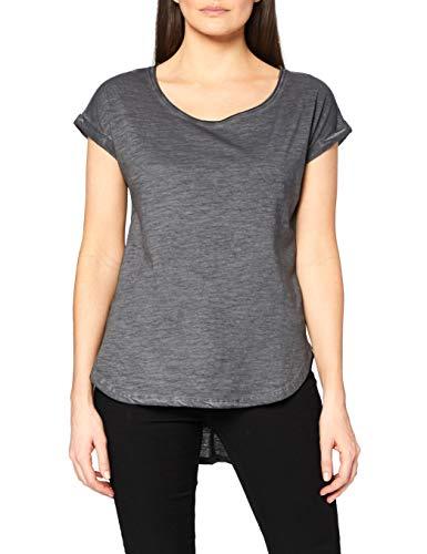 Urban Classics Damen Ladies Long Back Shaped Spray Dye Tee T-Shirt, Grau (Darkgrey 94), X-Large