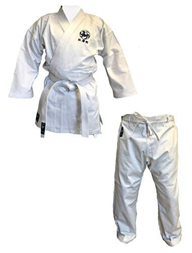 Kaiten Karateanzug Kodomo mit Shotokan Tiger + Kanji weiß (180)