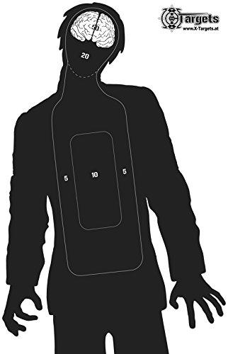 X-Targets Große Zielscheiben Zombie Silhouette / 53x84 cm/Papier 120g/m² (20 Stück)