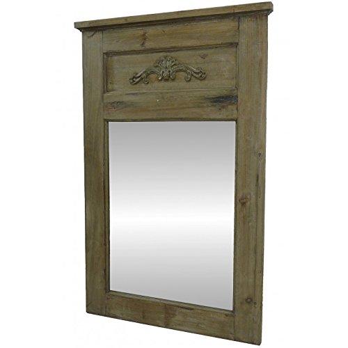 L'Héritier Du Temps spiegel van hout met rand voor open haard, 4 x 65 x 100 cm