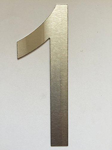 Fabricante de la chimenea (df-shopping) Número Casa/Números y ABC Numeral Cepillado Acero Inoxidable (1)