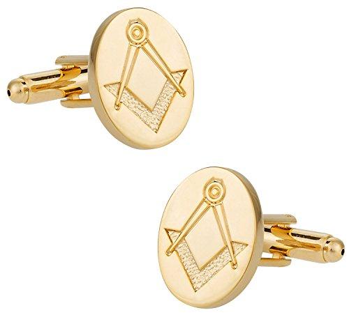 Gold Tone Freemason Cufflinks By Cuff-Daddy