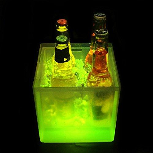 Destello S.L. Cubitera Led Cuadrada 3.5 litros RGB