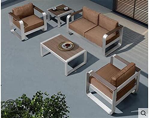 NICEDINING Outdoor bank combinatie vrije tijd aluminium Amerikaanse thee tafel stoel balkon patio tieyi tuinstoel (Kleur: 2)