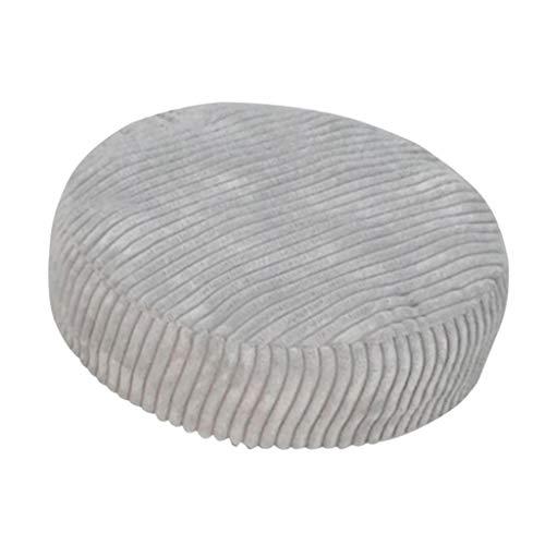 SM SunniMix Non Slip Bar Stool Seat Cover Cushion 30-40CM Club Salon Chair Slipcover - Warm/Dustproof/Breathable - Light Grey, 01 30cm (12 Inch)