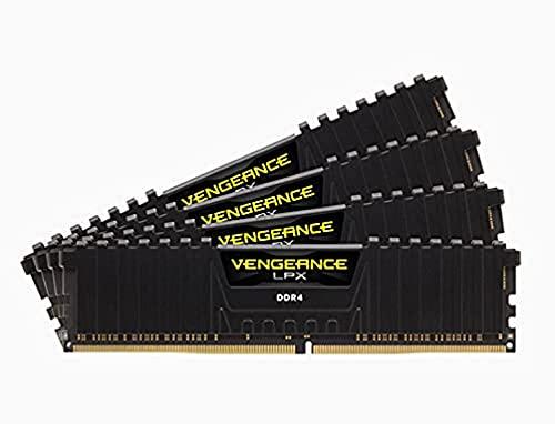 Corsair Vengeance LPX 32Go 4x8Go DDR4 3600MHz C18 XMP 2.0 1.35V Kit de Mémoire Haute Performance Black