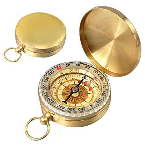 RETYLY Reloj del Compas Clasico de Bolsillo del Estilo bronc