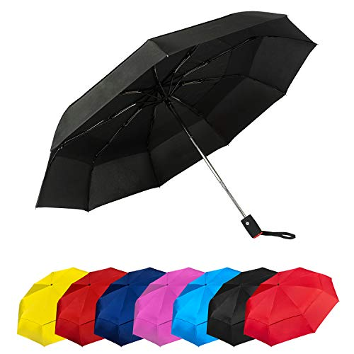 Paraguas Plegables Automático Antiviento Paraguas Originales de Colores Mujer Hombre Ligero Resistente...