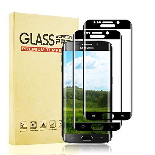 BOBI Pellicola Vetro Temperato per Samsung Galaxy S6 Edge [2 Pezzi], Pellicola Protettiva [9H Durezza] [Alta Definizione] [No Bolle] [Installazione Facile] Protezione Schermo