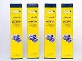 frisches Leinöl mit DHA, 4er Pack 4x250ml mit Dosierer | natives Speiseöl aus 1. Kaltpressung
