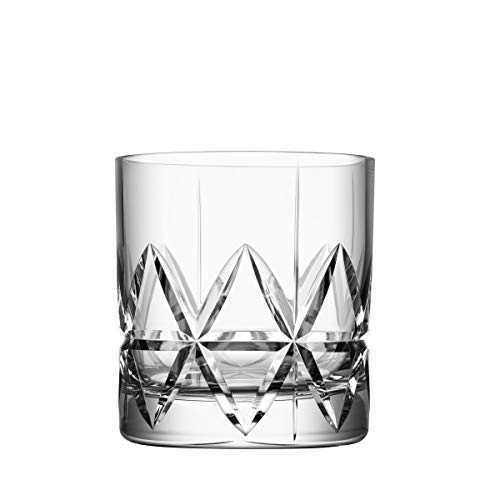 Orrefors Peak Double Old Fashioned Glass, Set of 4, Clear
