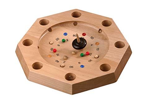 Philos 3116 - Tiroler Roulette Octagon aus Buche, Aktionsspiel
