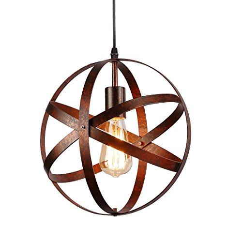 Suspension Luminaire Industrielle,design lampe plafonnier vintage en métal luminaires suspension Abat-jour Lustre avec Douille E27 Applique d'Eclairage pour salle à manger Cuisine