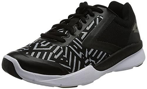 Lotto Dinamica 450 PRT W, Zapatillas de Atletismo Mujer, Gris (Optic/Tit Gry 000), 41.5 EU