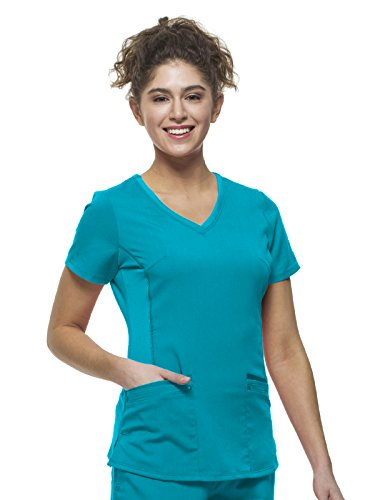 Healing Hands Purple Label Yoga Juliet 2245 V-Neck Scrub Top with Stretch Side Panels