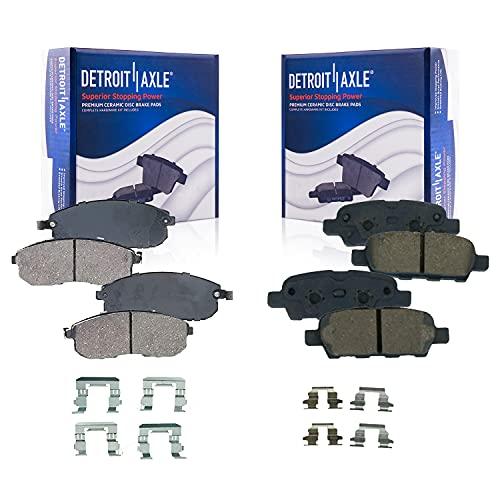 Detroit Axle - Front & Rear Ceramic Brake Pads Replacement for Infiniti G35 Nissan 350Z Altima Juke Sentra - 4pc set